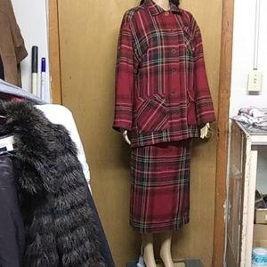 Maxi plaid wool blend 2 piece suit by Bushwacker L
